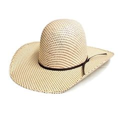 26fefdf3b03 Rodeo King Spotted Sheridan Open Crown Straw Hat