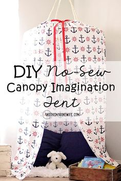 Want to strike your child's imagination and bring fun to the room? Learn how to make this DIY No-Sew Canopy Imagination Tent!