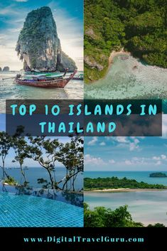 If your planning on visiting Thailand, check out these TOP 10 ISLANDS you can visit for some island hopping. Read on to see what your favourite island is. Thailand Honeymoon, Thailand Travel Tips, Visit Thailand, Asia Travel, Koh Phangan, Phi Phi Island, Phuket, Bangkok, Thailand Adventure