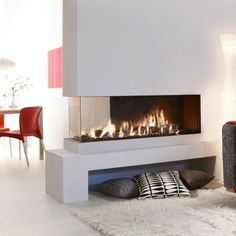 Artisan Lucius 140 3 Sided Glass Gas Fire