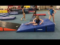 These are exaggerated drills to teach the snap under before you reach back. Eliminates long snap and buckling knees. Toddler Gymnastics, Gymnastics Lessons, Gymnastics Academy, All About Gymnastics, Gymnastics Floor, Gymnastics Tricks, Tumbling Gymnastics, Gymnastics Coaching, Gymnastics Training