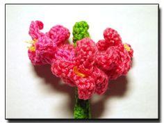 Garden Hyacinth crochet pattern http://melibondre.com/blog/?p=3726