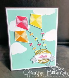 Swirly Bird card for June's - We Create Blog Hop. Supplies from Stampin' Up! card created by Jeanna Bohanon