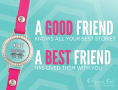 Best Friend - Origami Owl® Social Media Graphic...Your story would just not be the same without them….create a locket to tell her how special she is to you   #BFF #bestfriends