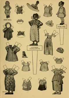Paper Dolls, The Mary Frances housekeeper; or, Adventures am...