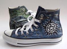Supernatural- TV series on Converse by atelierChloe