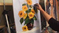 """Видео урок живописи от И Сахарова """"Подсолнухи"""""""