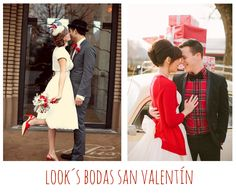Looks bride groom. Ideas para bodas en San Valentín