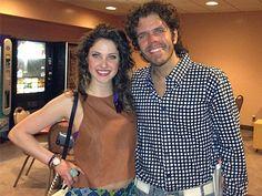 Photo Op - Flashdance the Musical tour - Jillian Mueller and Perez Hilton at Segerstrom Center for the Arts. #FlashdanceOC