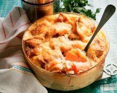 Gratin de pommes de terre au saumon et reblochon (facile, rapide) - Une recette CuisineAZ