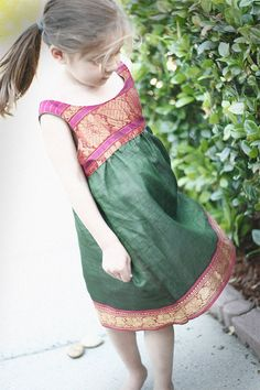 Upcycled Sari Dress  4T/5T by littlebitkids on Etsy, $48.00