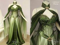 beautiful green maiden dress