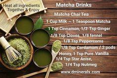 Matcha Drinks www.dminerals.com
