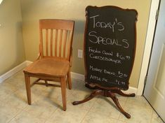 Here's how to make an amazingly original chalkboard out of a vintage table.