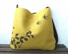 Put a bird on it! Hemp handbag. #green #hemp #organic #fashion