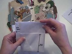 Tall Envelope Mini Scrapbook Album Tutorial - YouTube
