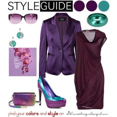 Radiant Orchid for Deep Winter by taggica on Polyvore | with deep and cool…