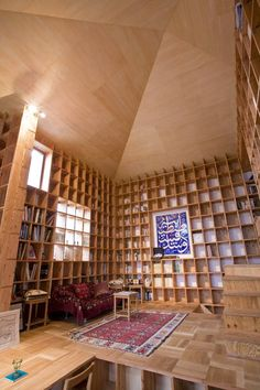 A house in Osaka where every surface is designed to hold books. Seemed perfect for Pinterest :-)