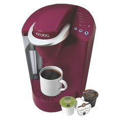 Keurig K40 Elite Single Serve Home Brewing System - Rhubarb (649645202150) Get that great fresh brewed taste, up after cup with the keurig k40 elite single serve home brewing coffee maker in rich ruhbarb. That k-cup convenience with the delicious roast that warms your heart and excites your mornings. Everyone can select their customized coffee with a few quick button selections to get just the right cup. With keurig you've finally found the perfect coffee maker for your busy mornings.