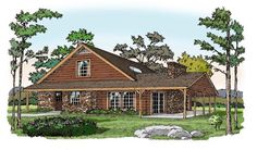 House Plan 79523 | Cottage Traditional Plan with 1345 Sq. Ft., 3 Bedrooms, 2 Bathrooms