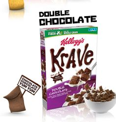 Kellogg's Krave Cereal includes BHT (Waxy preservatives linked to cancer and tumors) and Red 40 and Yellow 5 (linked to ADHD in children, DNA damage, and Cancer)