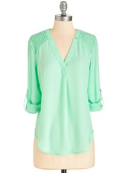 Found Poet Top. To someone who loves to seek unique combinations, this top is a thrill. #mint #modcloth