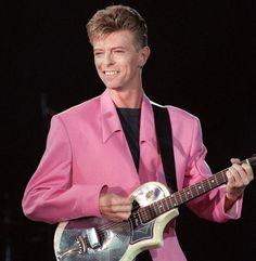 Bowie performing at the Place de la Nation, Paris 1991