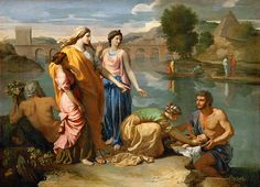 Nicolas Poussin - Moses Saved from the Water [1638]   Flickr - Photo Sharing!