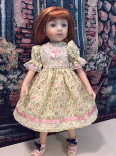 "DOLL CLOTHES FOR 13"" Effner Little Darling, Maru,14"" Betsy McCall ""Yellow Dress"""