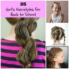 Inspired by back-to-school season, I compiled 25 super adorable hairstyles for little girls. A wide range of looks is included, from ultra casual to a little fancy. There is also variety in skill level needed, as I know some mothers are more comfortable with hairstyling than others. I promise some