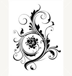 Floral ornament for your design vector 16058 - by Devor on VectorStock®
