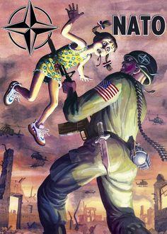 Anti nato propaganda, Yugoslavia, 1991 : PropagandaPosters