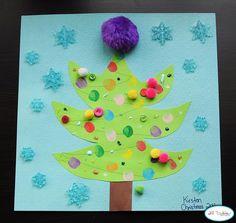 Weihnachtsbaum für kleine Künstler