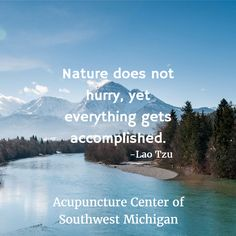 Nature does not hurry, yet everything gets accomplished.