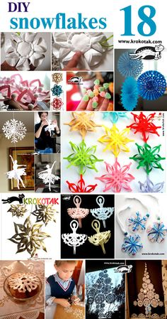 18 great projects - DIY snowflakes
