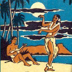 Hawaiian Tiki Matchbook — SF Club Royal Hawaiian