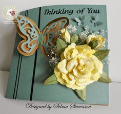 Yellow Rose Pivot Card