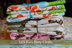 Easiest DIY burp cloths.