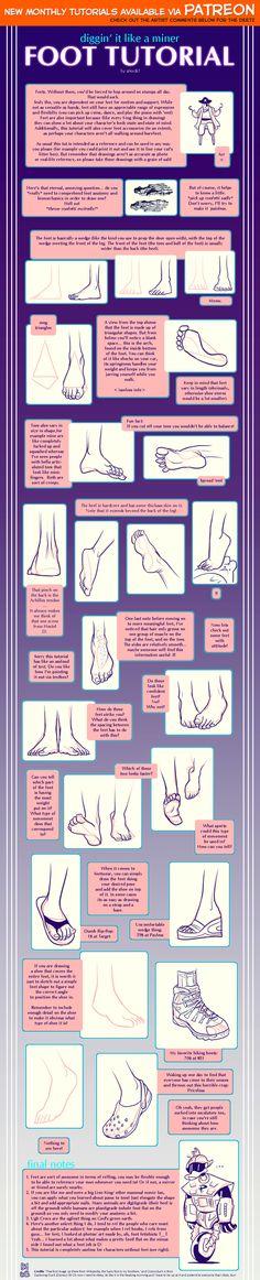 Foot tutorial by shingworks on DeviantArt