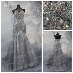 Wholesale Shimmering Fashion Organza Beaded Sweetheart Long Prom Dresses Gown And Dresses Evening 2012 Crystal, Free shipping, $138.88-155.81/Piece   DHgate