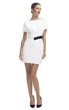 Grosgrain Ribbon Half Belt Dress by No. 21 for Preorder on Moda Operandi