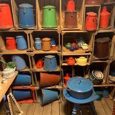 "Larry Licata and Judit Gati on Instagram: ""www.antiquebuyingtrips.com #enamelware #vintageenamel #antiqueenamel #vintageenamelware #antiqueenamelware #vintagekitchen…"" Vintage Enamelware, Vintage Kitchen, Hungary, Antiques, Stuff To Buy, Antiquities, Antique, Retro Kitchens, Old Stuff"