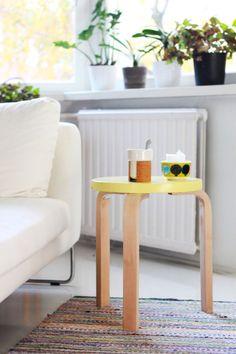 Keltainen Aalto-jakkara