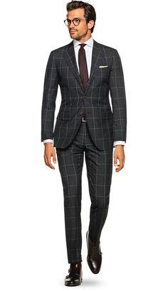 Suit Grey Check Lazio P5296 | Suitsupply Online Store