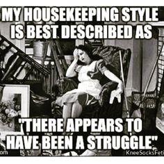 housekeeping struggle