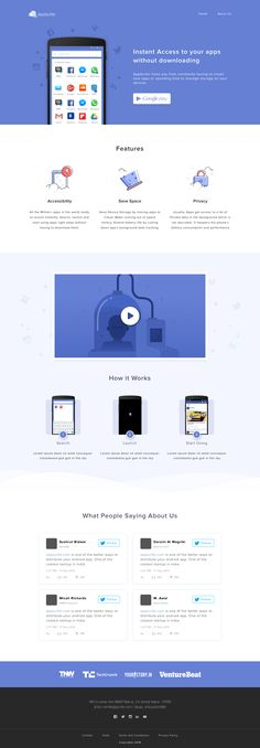 Cloud Apps Landing Page – SiteUp