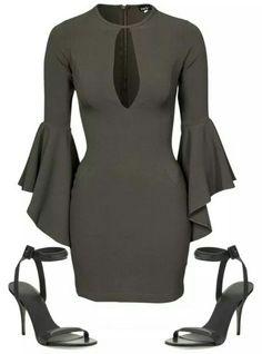 Black greyish dress