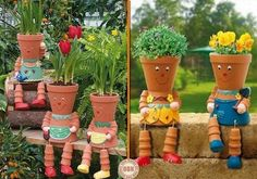 Muy original esta idea para el jardin...