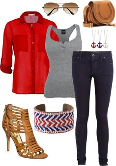 """""""USA!"""" by meganelsis ❤ liked on Polyvore"""