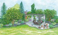 Gestaltungsideen für einen Sitzplatz im Blütenmeer